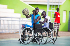 Wheelchair baskeball for war victims (Albert Gonzalez Farran) Tags: sports basketball basket southsudan wheelchair disabled redcross amputation disabilities amputated warvictims juba icrc disabledpeople jubek