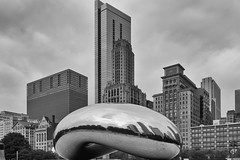 Cloud Gate in Black and White (RaulCano82) Tags: chicago illinois chitown bean il millenniumpark cloudgate