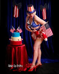 _MG_2344 (Atomic Age Pictures) Tags: stockings cake highheels legs cheesecake retro heels 4thofjuly independenceday pinup sexylegs shortskirt amandalee retropinup heelsstockings jitterbugdoll atomicagepictures