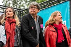 Eric Coquerel & Danielle Simonnet (dprezat) Tags: street portrait people paris nikon protest meeting campagne opposition gauche d800 dfil stalingrad prsidentielle insoumis nikond800 partidegauche 6merpublique jlm2017 franceinsoumise