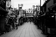 Sando Impression (H.H. Mahal Alysheba) Tags: street urban monochrome japan temple tokyo nikon tradition nikkor afs shitamachi shibamata d800 85mmf18