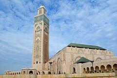 Hussain II mosque 1 (PhillMono) Tags: travel art architecture nikon worship place minaret faith mosque tourist holy morocco ii casablanca dslr hussain d7100