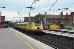 """Network Rail Class 43, 43014 """"The Railway Observer"""" & Direct Rail Services Class 37/0, 37069 (37190 """"Dalzell"""") Tags: tractor yellow northwestern nr compass ee revised growler wigan swoosh type3 hst drs englishelectric highspeedtrain networkrail class43 intercity125 class37 37069 43014 directrailservices testtrain doctoryellow bufferfitted class370 therailwayobserver brelcrewe d6769 hstdvt surrogatedrivingvantrailer"""