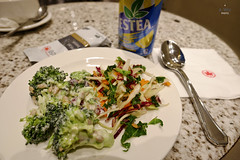 Salad plate (A. Wee) Tags: toronto canada salad airport lounge mapleleaf yyz aircanada