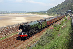 'Flying Scotsman' Penmaenbach tunnel 15th June 2016 (John Eyres) Tags: 60103 flying scotsman approaching penmaenbach tunnel with the emerald isle explorer 1z86 0914 euston holyhead 150616