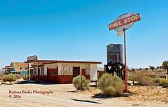 Movie Location #1 (RedHatGal: Barbara Butler/FireCreek Photography) Tags: sign desert garage gasstation movieset watertank redhatgal firecreekphotography barbarabutlerphotography