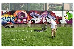 6980 (Massimiliano Fattizzo p.) Tags: street blackandwhite italy streetart milan colors graffiti colours milano colori