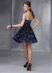 Charming Lace & Tulle Strapless Neckline Short A-line Homecoming Dress (miyadresses2016) Tags: floraldress straplessdress shortgraduationdress shortpromdress homecomingdress lacedress elegantdress