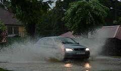Raina & Rain & Rain ...Wind and ThunderStorm...Rain (ksenijaJ) Tags: car rain flood trafic niftyfifty
