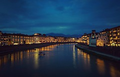 Luminara Pisa (fontanini.stefano) Tags: city bridge light italy festival night river pisa tuscany luminara lungarno huawei sanranieri mate8