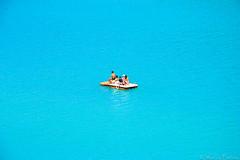 In the minimalist... (sbastienfontana) Tags: lake france freedom loneliness turquoise think minimal simplicity thinking simple minimalist pedalo lacsaintecroix seulaumonde gorgeduverdon blueclor