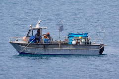 Pcheur avec un beau crabe dans les mains (ijmd) Tags: paysage landscape france bretagne ledebatz bateau boat
