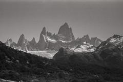 Fitzroy (Marcmarcma) Tags: kodak retina iii fuji neoplan 400 scenery fitzroy patagonia argentina parque glacier camping trekking bw analogue