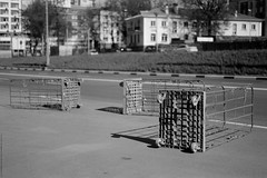 untitled (Anton Zabermach) Tags: city urban blackandwhite bw film analog 35mm cityscape dof bokeh fujifilm nikkor acros nikonfe2 selfdeveloped microphen 50mmf18ai