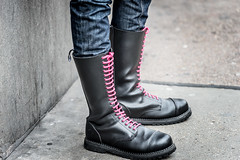 Kinky Boots (Sean Batten) Tags: street city pink england urban london nikon df shoes boots unitedkingdom streetphotography pride gb 70200 laces