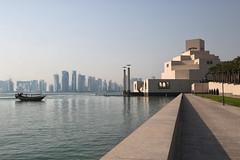 Doha (John Konstandis) Tags: sea water museum skyscraper boat seacoast doha qatar canonef24105mmf4lisusm museumofislamicart canoneos5dmarkiii