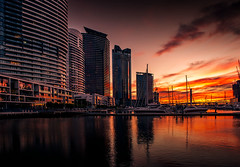 Sunset at Docklands (Leanne Cole) Tags: sunset landscape photographer photos australia melbourne images victoria environment docklands fineartphotography buidings environmentalphotography fineartphotographer nikond800 environmentalphotographer leannecole leannecolephotography