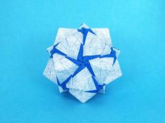 Versatile Sonobe var. (masha_losk) Tags: paper origami squares symmetry foliage folded paperfolding modularorigami origamistar kusudama unitorigami оригами кусудама бумага origamiart модульноеоригами origamiwork