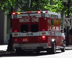 Seattle Fire Department/Medic One/A25 (zargoman) Tags: seattle water truck fire smoke police hose burning emergency firefighter department firefighters response dispatch