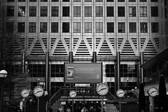 Twenty To Three (funkedup1981) Tags: building london clock tall canarywharf clocks londoncity modernbuilding onecanadasquare