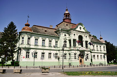 City hall building Zrenjanin Serbia (Aleksandar Jeftic) Tags: old city windows sky white building castle history classic beautiful museum architecture facade town hall nice europe king european exterior outdoor space hill great large style structure historical classical marble renaissance