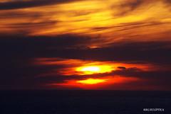 Dark sunset (Eclptica) Tags: sunset sea sun sol clouds mar pentax nubes puestadesol km eclptica puertodandratx flickrandroidapp:filter=none