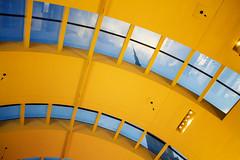 Dubai Mall Ceiling (Ali Sabbagh) Tags: sky abstract yellow canon photography dubai curves uae ceiling dxb archotecture dubaimall d1100 burjkhalifa blinkagain canon1100d rebelt3
