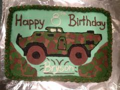 Camo Tank Cake, Triad Area NC, www.birthdaycakes4free.com