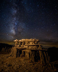 Tufa Castles (DanB.) Tags: california longexposure sky lightpainting night clouds stars astrophotography monolake tufa intricate milkyway leevining earthandspace bicarbonate sandtufa competition:astrophoto=2013