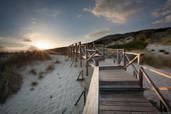 Protected (Brian Shore) Tags: sea beach sunrise wooden spain sand walkway boardwalk mallorca sanddunes majorca balearicislands balearics calamesquida