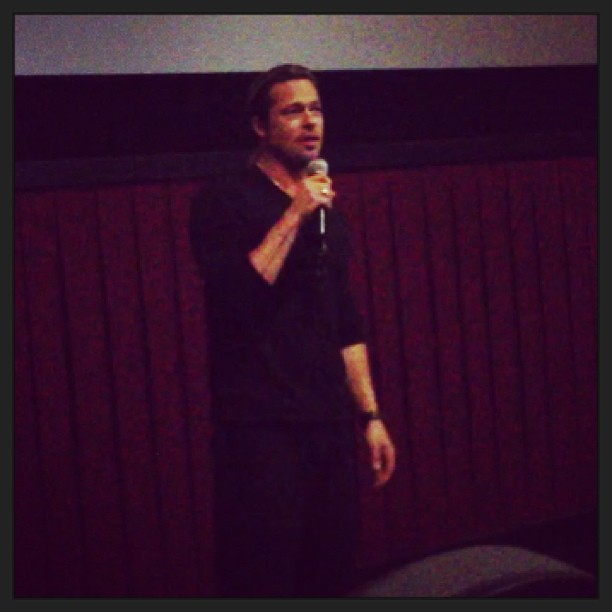 Brad Pitt at World War Z Screening