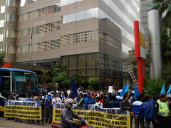 July 12 - Joint action against Adidas (Jakarta) (liga.sindical) Tags: indonesia workers solidarity adidas