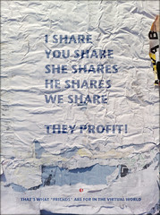 we share (PIKTORIO) Tags: blue berlin me germany creativity layout design yahoo flickr poetry sheep you we used example montage they profit dem share fuckedup users ignorance typographic oppinion calinago
