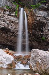 Hanging Lake Waterfall (TMullenaux) Tags: lake water river waterfall rocks stream hanging