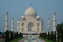 The Taj Mahal, Agra (CraigyPics) Tags: travel blue sky india architecture canon reflections asia taj mahal