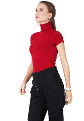 up505-8304 (pearce109) Tags: red hot sexy beautiful beauty office sweater short turtleneck tight