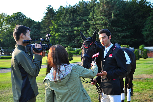 Alex interviewed at Knowsley Park courtesy of Earl & Countess of Derby for World Travellor TV Photo Karen Tang