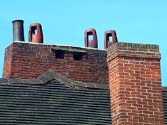York Chimneys, North Yorkshire (teresue) Tags: york uk greatbritain chimney england brick unitedkingdom yorkshire roofs northyorkshire 2013