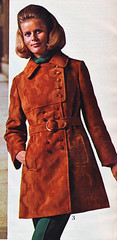 Spiegel 71 fw suede trench (jsbuttons) Tags: winter brown leather 1971 clothing buttons spiegel coat 71 womens clothes button catalog seventies suede vintageclothing vintagefashion doublebreasted buttonfront vintagefashions