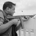 Saigon 05 May 1968 - Soldier Shooting During Second Offensive on Saigon- Image by © Christian Simonpietri/Sygma/Corbis thumbnail