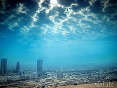 The pretty clouds of Kuwait today (ilulz) Tags: blue sky nature clouds landscape photography bluesky kuwait q8 uploaded:by=flickrmobile flickriosapp:filter=nofilter