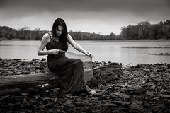 damp and dreary (Rodney Harvey) Tags: woman wet rain river moody dreary iowa missouri infrared damp meloncholy
