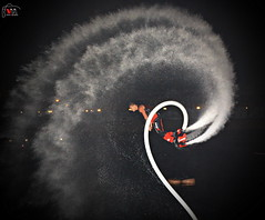 Fly Board (Victor Mitri) Tags: show november sea water fire fly amazing board flip pearl splash doha qatar