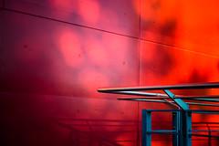 Incendie / On fire (fidgi) Tags: blue shadow red urban paris architecture canon rouge ombre bleu portedeversailles parcdesexpositions canoneos5dmk3