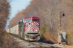 CEFX 106 EVWR APA1 Maunie IL 30 Nov 2013 (Train Chaser) Tags: sd90mac evwr evansvillewestern cefx106 evwrapa1
