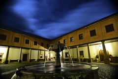 Patio Central (F SoGel :-)) Tags: madrid sky espaa night clouds patio cielo nubes nocturna nocturne monasterio paular rascafria laboratoriofsg
