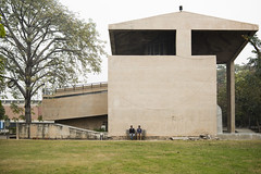 Two Men Against a Wall (Shubh M Singh) Tags: france lines museum architecture french 10 swiss 14 le valley sector government leisure mm punjab 35 corbusier chandigarh modulor corbu samyang