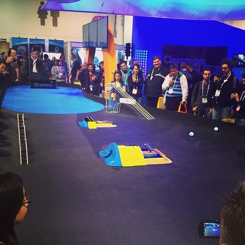 The popular Sphero racetrack! #ces2014