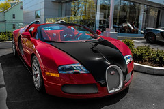 Bugatti Veyron Grand Sport (Rivitography) Tags: red black car canon french rebel italian connecticut greenwich fast exotic adobe t3 expensive bugatti rare supercar w16 horsepower veyron lightroom 2013 rivitography
