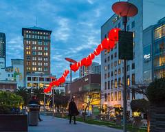 Union Square (sirgious) Tags: sanfrancisco dusk lanterns unionsquare